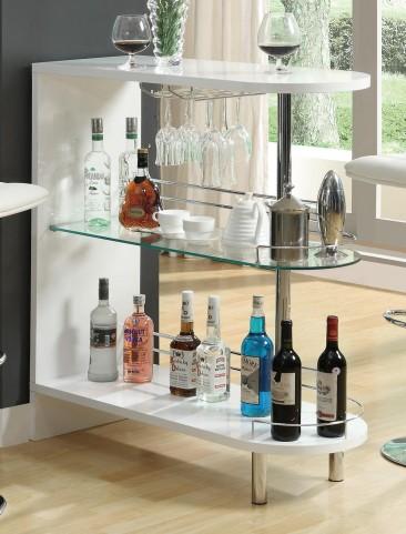 White Bar Table 101064