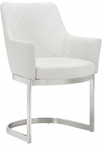 Chase White Cantilever Dining Chair