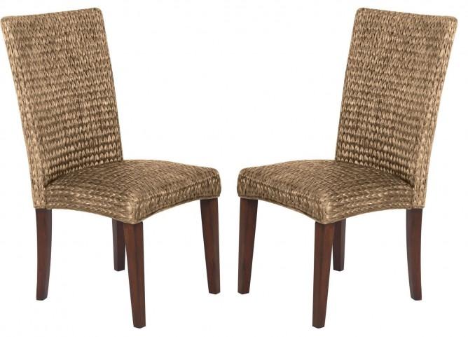 Westbrook Banana Leaf Natural Side Chair Set of 2