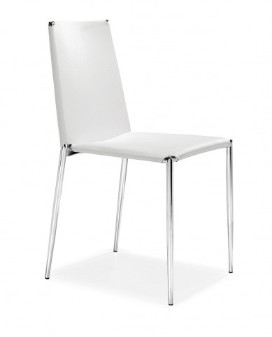 Alex Dining Chair White Set of 4