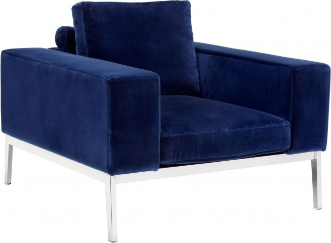 Adder Giotto Navy Fabric Armchair