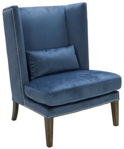 Malibu Blue Ink Wing Chair