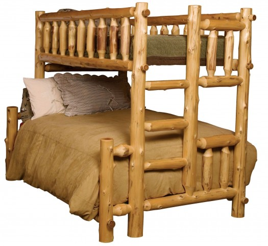 Cedar Left Full Over Twin Bunk Bed