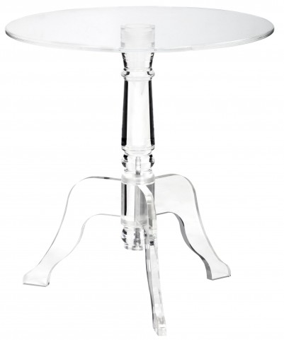 Cassandra Clear Round End Table