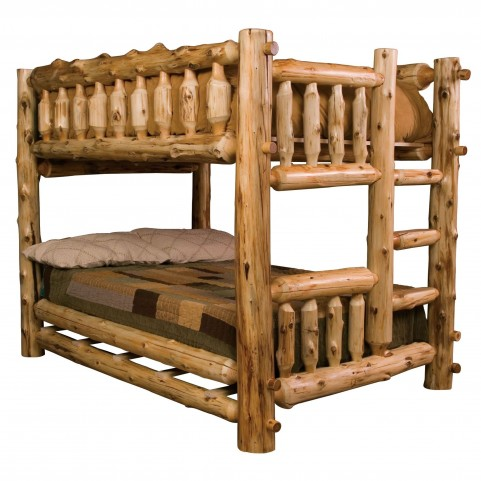Cedar Right Twin Over Twin Bunk Bed