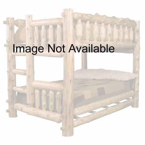 Hickory Ladder Right Full Over Full Bunk Bed With Rustic Maple Rails