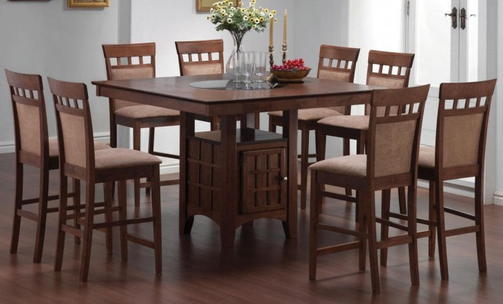 Mix & Match Walnut Counter Height Dining Room Set