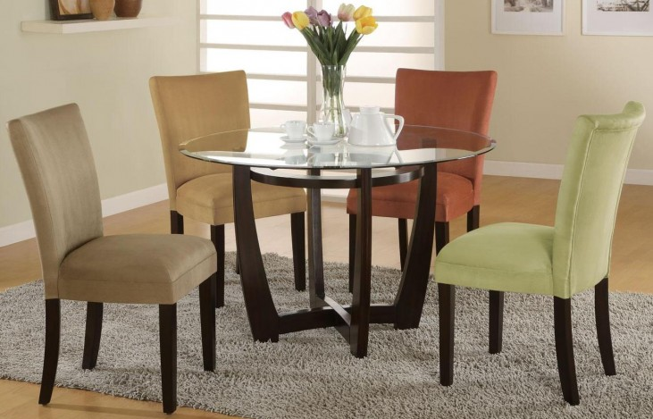 Bloomfield Cappuccino Round Dining Room Set