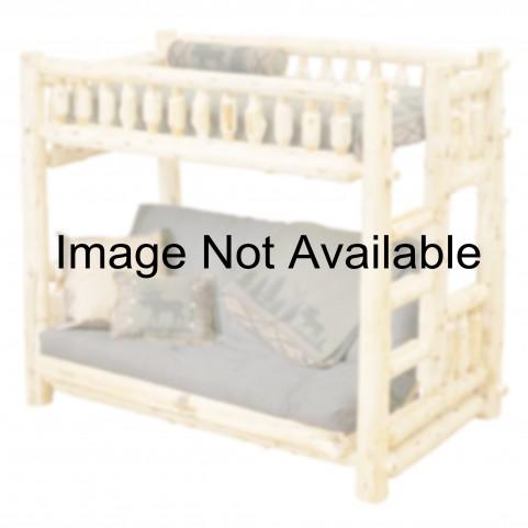 Vintage Cedar Twin Over Futon Log Bunk Bed