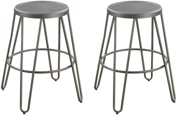 Galway Gunmetal Counter Height Stool Set of 4