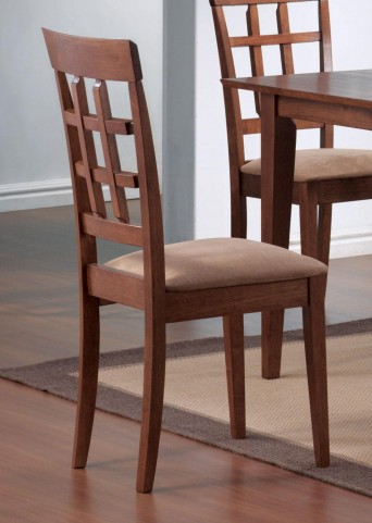 Mix & Match Walnut Wheat Back Walnut Chair Set of 2