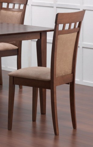Mix & Match Walnut Cushion Back Walnut Chair Set of 2