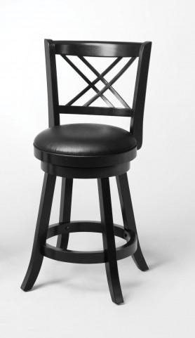 "Black 24"" Bar Stool 101959 Set of 2"