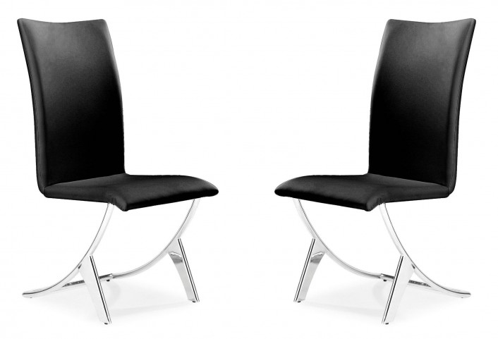 Delfin Dining Chair Black Set of 2