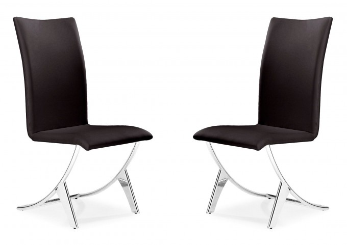 Delfin Dining Chair Espresso Set of 2