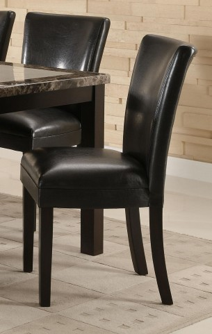 Carter Black Parson Side Chair Set of 2