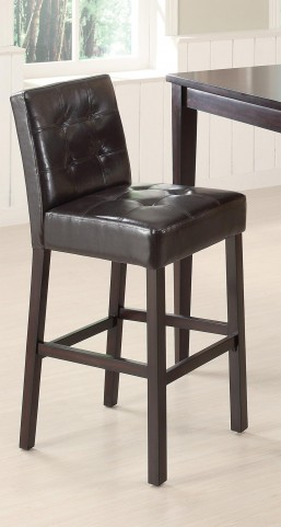 Cappuccino Bar Chair 102576 Set of 2