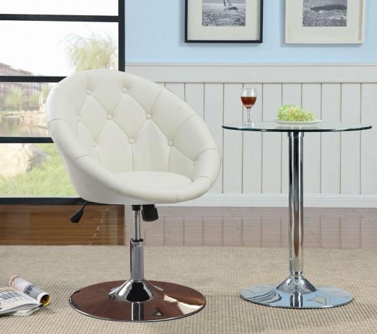 102583 White Swivel Chair
