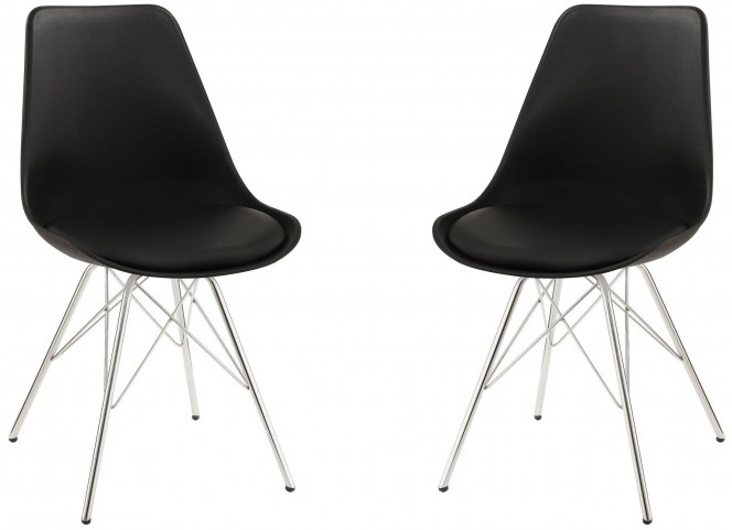 Lowry Black Side Chair Set of 2