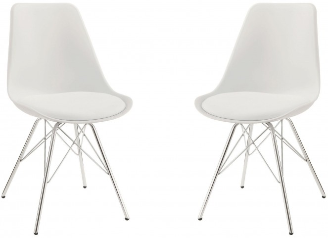 Lowry White Side Chair Set of 2