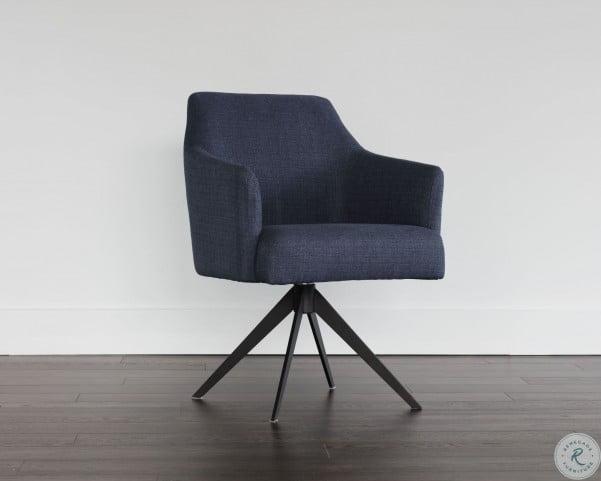 Brilliant 5West Sydney Midnight Blue Swivel Chair Unemploymentrelief Wooden Chair Designs For Living Room Unemploymentrelieforg