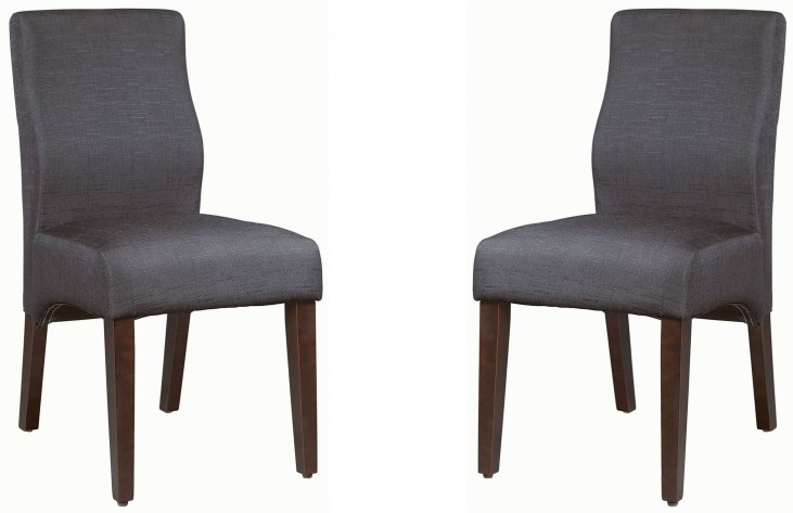 Lowry Black and Dark Cappuccino Side Chair Set of 2