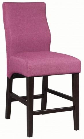 Dorsett Purple Counter Height Stool Set of 2