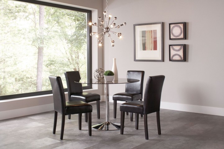 Clemente Chrome Dining Room Set