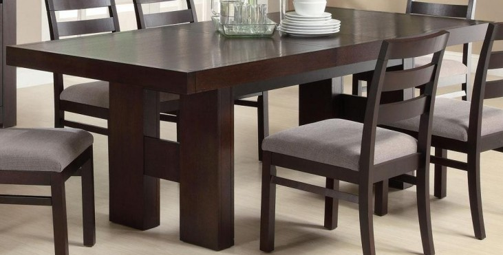 Dabny Cappuccino Rectangular Extendable Dining Table