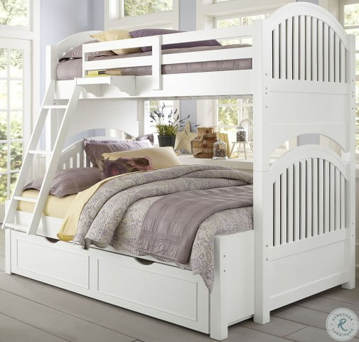 Lake House White Adrian Twin Over Full Bunk Bed With Trundle From Ne Kids Coleman Furniture