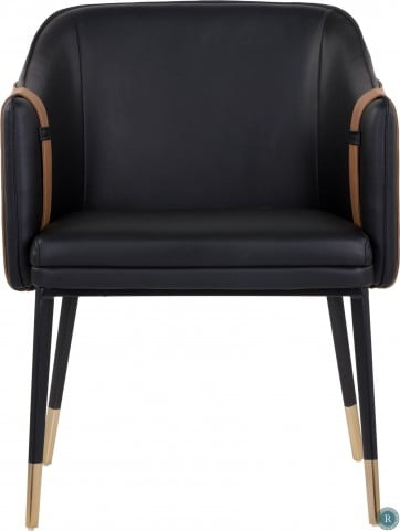 Miraculous Ikon Napa Cognac Leather Carter Armchair Set Of 2 Caraccident5 Cool Chair Designs And Ideas Caraccident5Info