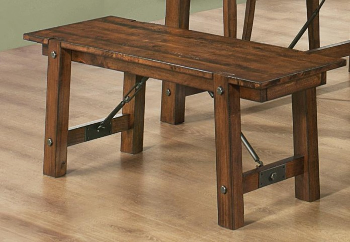 Lawson Rustic Oak Bench