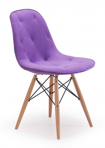 Probability Purple Velour Chair