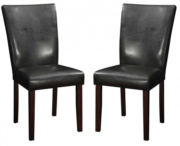 Westbrook Brown Leather Dining Chair Set of 2