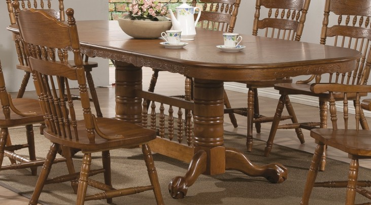 Brooks Oak Extendable Dining Table