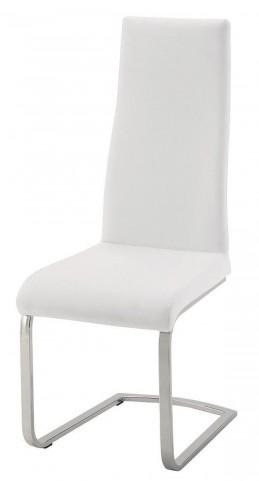 Geneva White Leatherette Dining Chair Set of 4