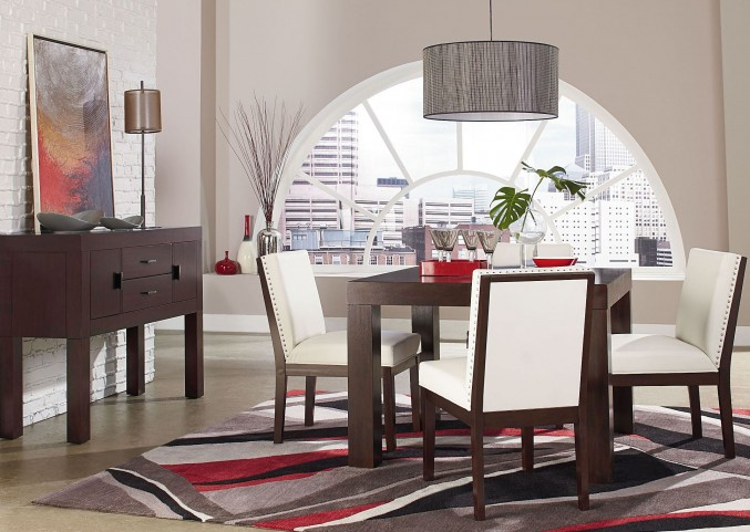 """Couture Elegance Dark Chocolate Brown 42"""" Square Dining Room Set"""