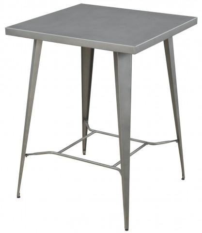 Light Gunmetal Bar Table