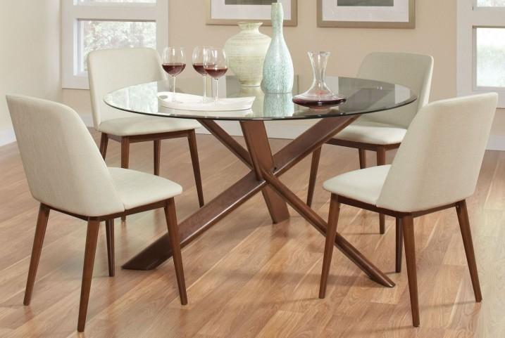 Barett Chestnut Round Dining Room Set