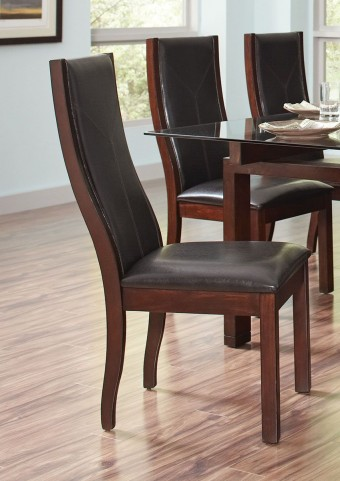 Rossine Red Brown Dining Chair Set of 2