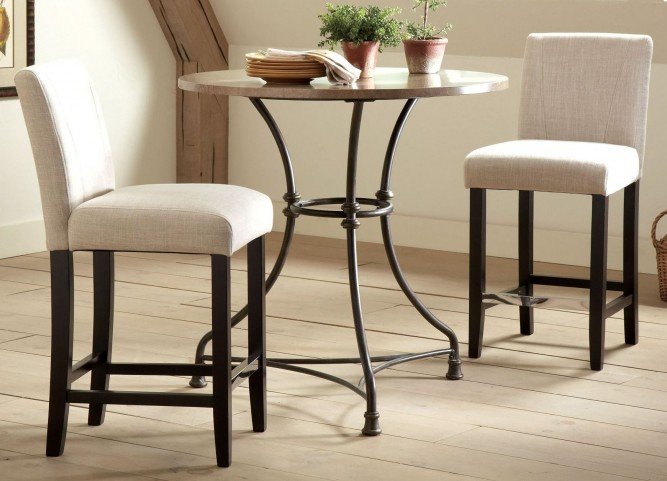 Lahner Round Counter Height Dining Room Set