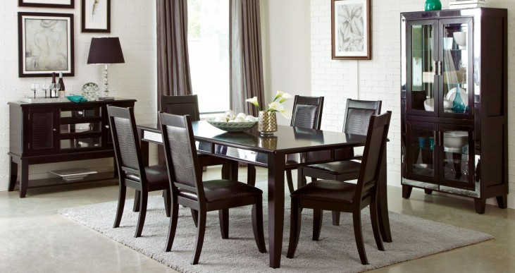 Middleton Cappuccino Extendable Rectangular Dining Room Set