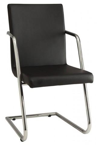Avram Black Leatherette Dining Chair Set of 4