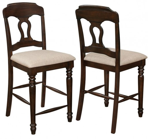 Hamilton Antique Tobacco Counter Height Chair Set of 2