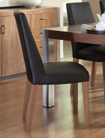 Faccini Medium Brown Side Chair Set of 2