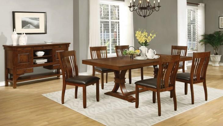 Abrams Truffle Extendable Rectangular Dining Room Set