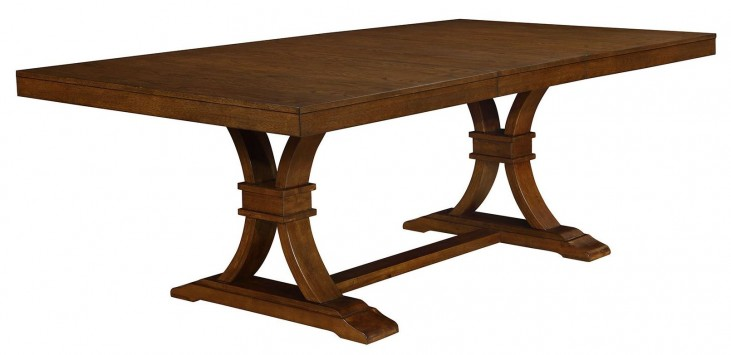 Abrams Truffle Extendable Rectangular Dining Table