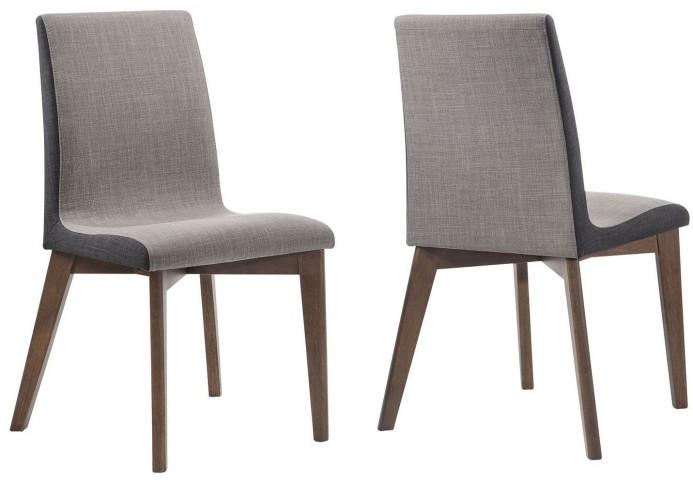 Redbridge Natural Walnut Dining Chair Set of 2