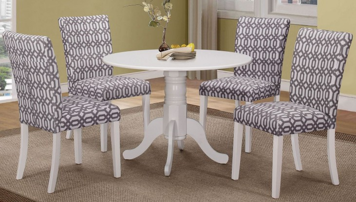 Allston White Round Dining Room Set