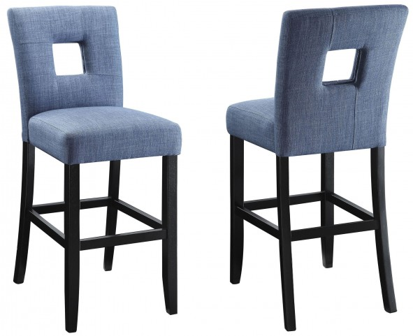 Andenne Blue Counter Height Chair Set of 2